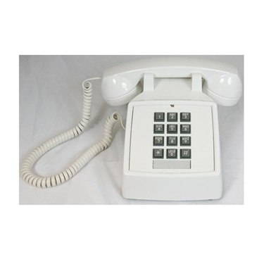 Cortelco ITT-2500-V-WH 250015-VBA-20M Traditional Desk Phone