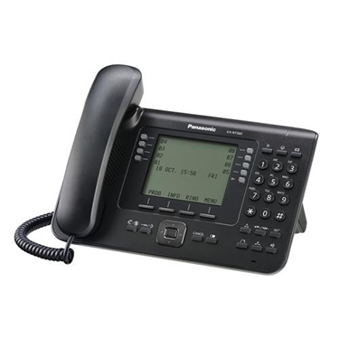 Panasonic 4.4 Inch Backlit LCD 24 Button IP Phone Black