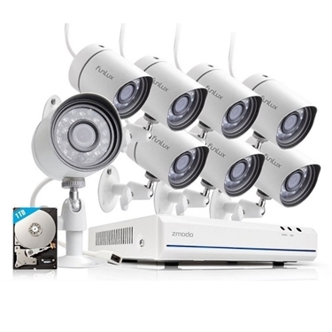Funlux 8 CH 720p HD HDMI NVR Simplified PoE Outdoor Indoor Security Camera System 1TB HDD