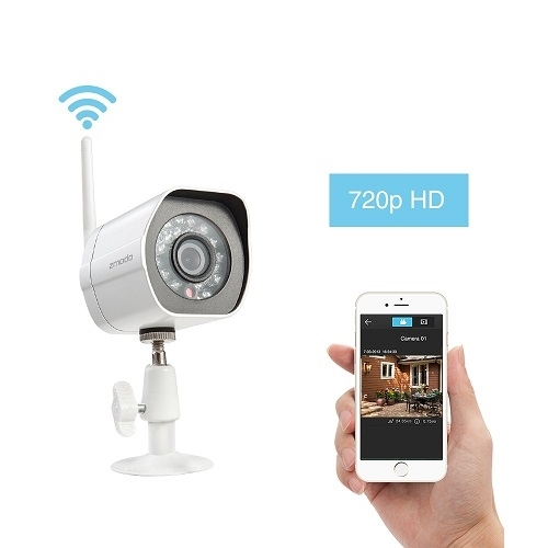 Zmodo 720p HD Wireless Bullet Outdoor IP Camera with Night Vision