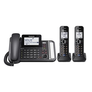 Panasonic 2-Line Corded Cordless Link2 Cell System & 2 Cordless Handsets