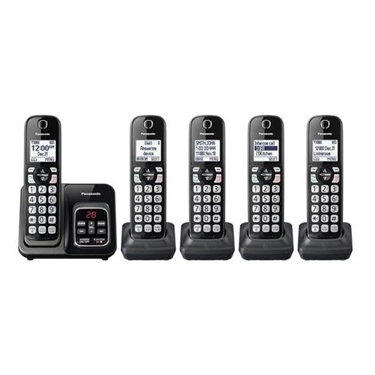 Panasonic 5 Handsets Expandable Cordless Phone with Call Block