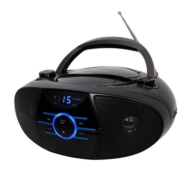 Jensen CD-560 AM-FM Stereo CD Boombox with Bluetooth