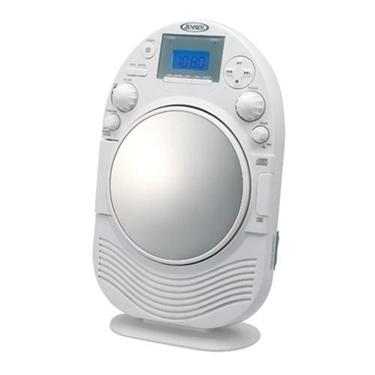 Jensen JCR-525 AM-FM Stereo Shower Radio-CD with Mirror