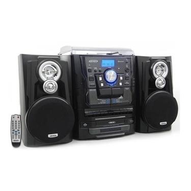 Jensen JEN-JMC-1250 3-Speed Stereo Turntable with Bluetooth