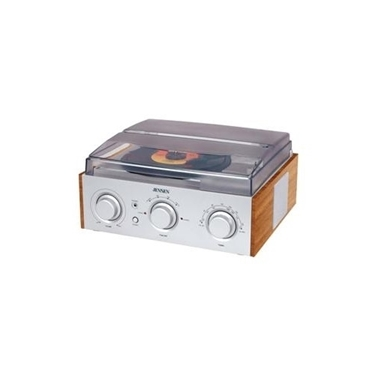 Jensen JEN-JTA-220 3-Speed Stereo Turntable with AM-FM