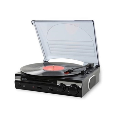 Jensen JTA-230 3-Speed Stereo Turntable with Built in Speakers