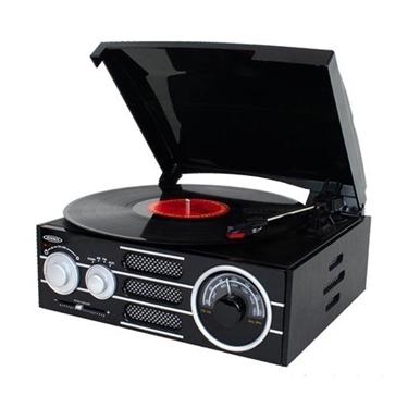 Jensen JTA-300 3-Speed Stereo Wood Cabinet Turntable