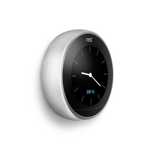 Nest Learning Thermostat 3rd Generation Gen Stainless Steel Silver WiFi T3008US