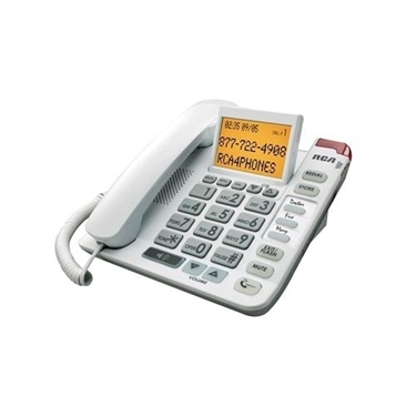 RCA 1124-1WTGA Amplified Big Button Corded Caller ID Phone