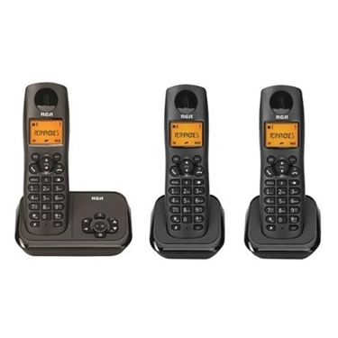 RCA 2162-3BKGA DECT 6.0 3-Handset Cordless Phone with ITAD