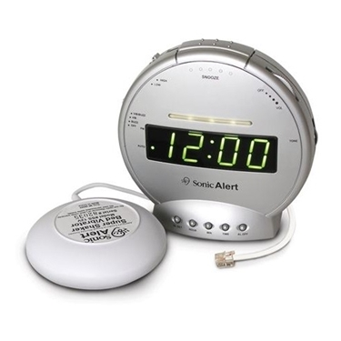 Sonic Bomb Alarm clock with phone Signaler and Vib