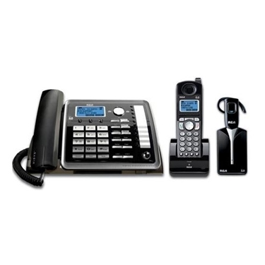 RCA 2-Line DECT 6.0 Phone System Corded-Cordless and Headset