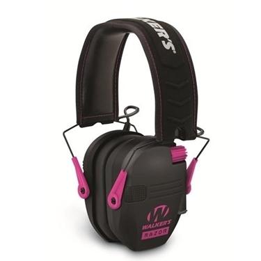 Walker WGE-GWP-RSEM-PNK Razor Series Slim Shooter Folding Ear Muff-Pink
