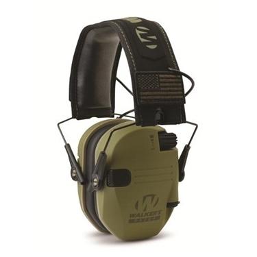 Walker's WGE-GWP-RSEMPAT-ODG Razor Patriot Series Electronic Ear Muffs