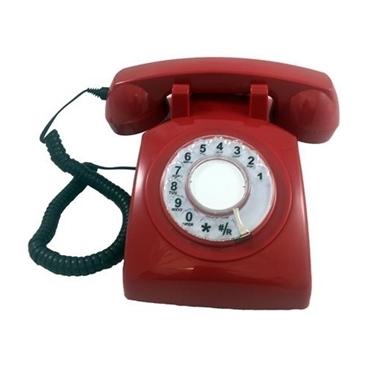 Cortelco Single Line Rotary Phone Red