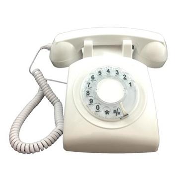 Cortelco Single Line Desk Rotary Phone White