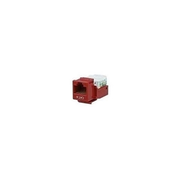 Cables Unlimited UTP-7100R CAT6 Tool less Keystone Jack Red