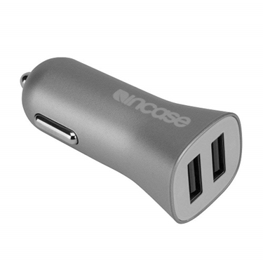 Incase High Speed Dual Car Charger - Metallic Gray