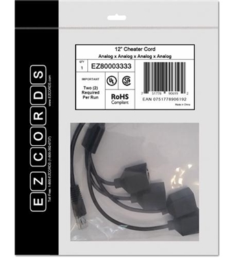 Picture of EZC-EZ80003333 4 Analog Cheater Cord