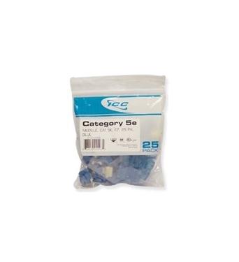 Picture of ICC-CAT5JKPK-BL IC107E5CBL - 25PK Cat5 Jack - Blue EZ
