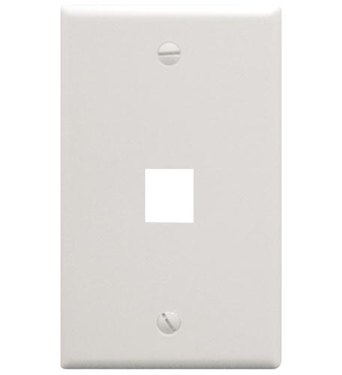 Picture of ICC-FACE-1-WH IC107F01WH - 1Port Face White