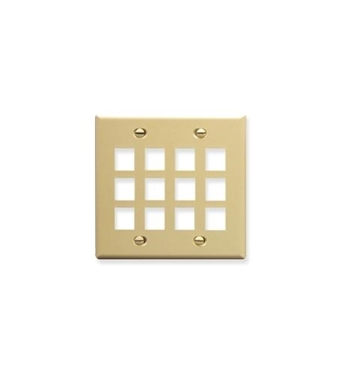 Picture of ICC-FACE-12-IV IC107F12IV - 12Port Face - Ivory
