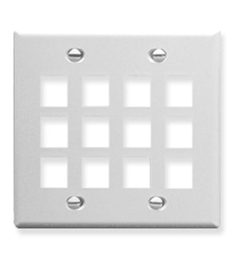 Picture of ICC-FACE-12-WH IC107F12WH - 12Port Face - White