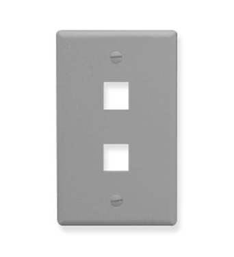 Picture of ICC-FACE-2-GR IC107F02GY - 2 Port Face - Gray