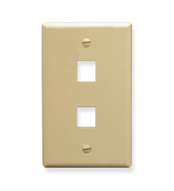 Picture of ICC-FACE-2-IV IC107F02IV - 2Port Face Ivory