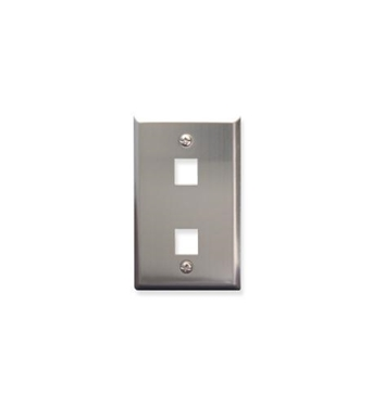 Picture of ICC-FACE-2-SS IC107SF2SS - 2Port Face - Stainless