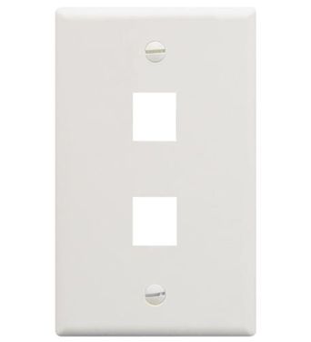 Picture of ICC-FACE-2-WH IC107F02WH - 2Port Face White