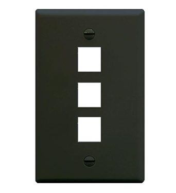Picture of ICC-FACE-3-BK IC107F03BK - 3Port Face - Black