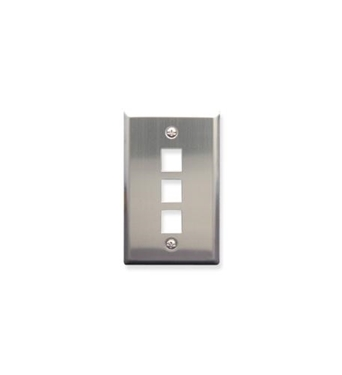 Picture of ICC-FACE-3-SS IC107SF3SS - 3Port Face Stainless Steel