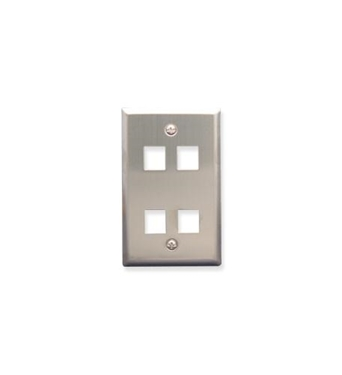 Picture of ICC-FACE-4-SS IC107SF4SS - 4Port Face Stainless