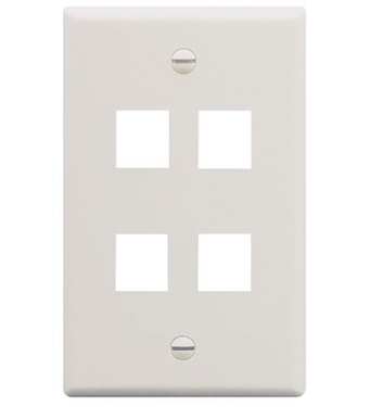 Picture of ICC-FACE-4-WH IC107F04WH - 4Port Face White