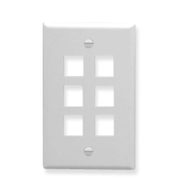 Picture of ICC-FACE-6-WH IC107F06WH- 6Port Face White