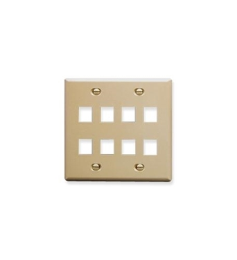 Picture of ICC-FACE-8-IV IC107FD8IV - 8 Port Face Ivory, 2-Gang