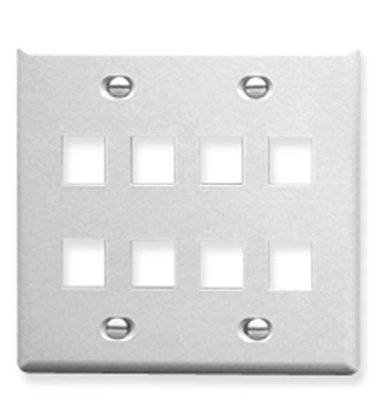 Picture of ICC-FACE-8-WH IC107FD8WH - 8 Port Face White, 2-Gang
