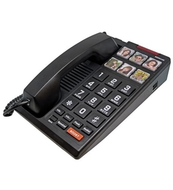 Picture of SCI-H3000-BK Big Button 6-Photo Analog Speakerphone