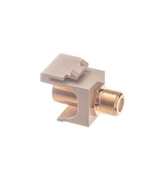 Picture of ICC-IC107B5GIV MODULE, F-TYPE, GOLD PLATED, IVORY