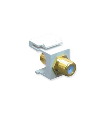 Picture of ICC-IC107B9GWH Module, F-Type, Gold Plated, 3GHZ, White