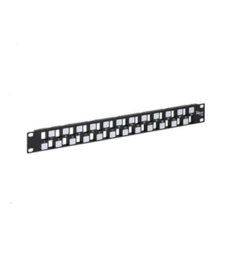 Picture of ICC-IC107BE241 PATCH PANEL, BLANK, EZ, 24-PORT, 1 RMS