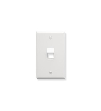 Picture of ICC-IC107DA1WH FACEPLATE, ANGLED, 1-GANG, 1-PORT, WHITE