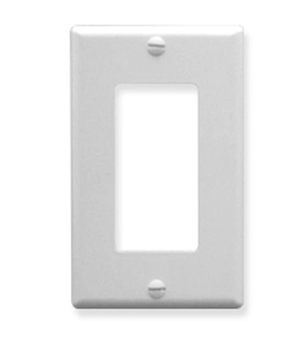 Picture of ICC-IC107DFSWH Decorex Faceplate 1 Gang - White