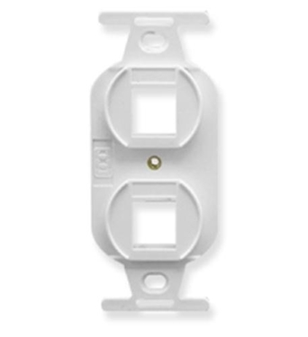 Picture of ICC-IC107DPIWH INSERT, ELECTRICAL, 2-PORT, WHITE