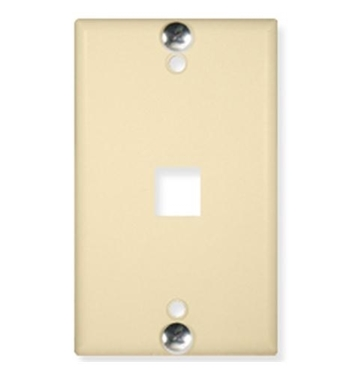 Picture of ICC-IC107FFWIV WALL PLATE, PHONE, FLUSH, 1-PORT, IVORY