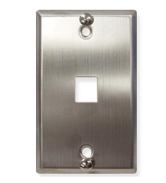 Picture of ICC-IC107FFWSS WALL PLATE, PHONE, FLUSH, 1-PORT, SS