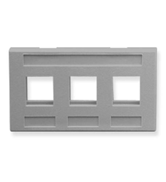 Picture of ICC-IC107FM3GY FACEPLATE, FURNITURE, 3-PORT, GRAY