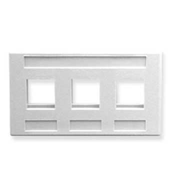Picture of ICC-IC107FM3WH FACEPLATE, FURNITURE, 3-PORT, WHITE